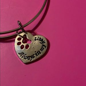 💚3 items 15 Always in my heart paw print bracelet